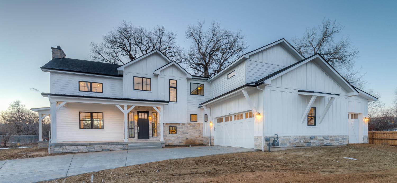 Modern Farmhouse, two story, white