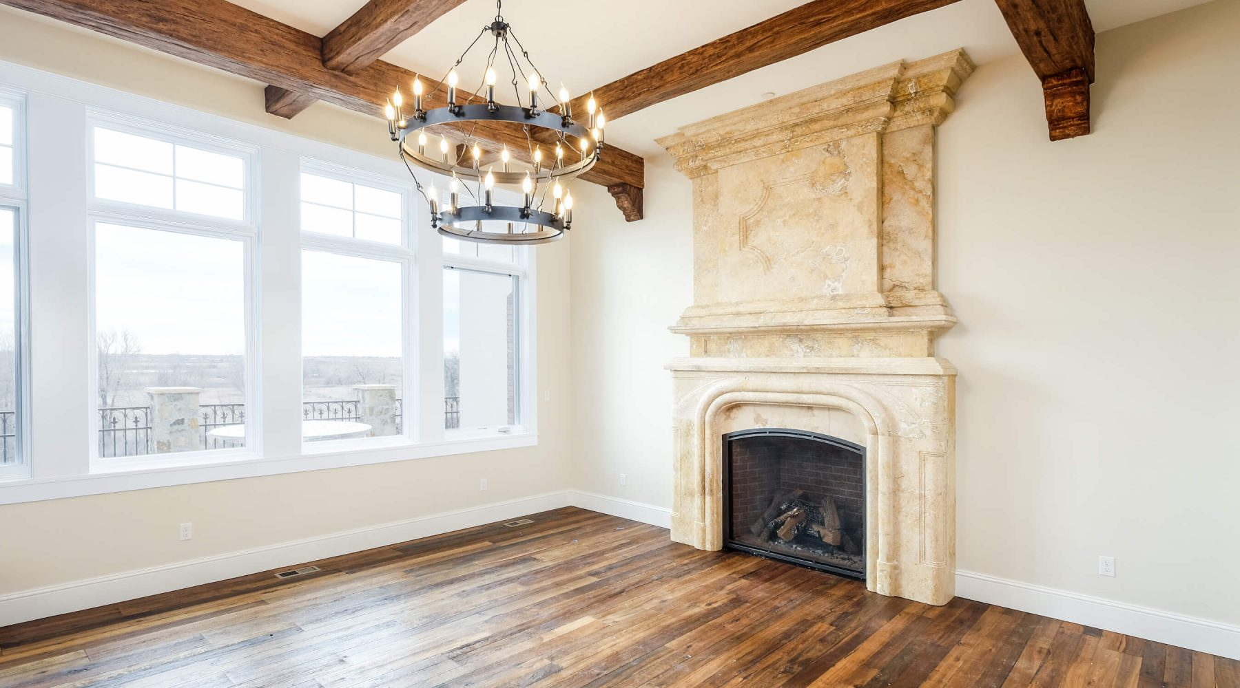 12656 Waterside Ln-1 great room, beams, wood floors fireplace
