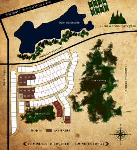 Anthem Map - Homesites to Build Custom Home - Copper Homes